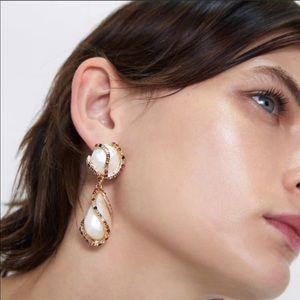 Zara Pearl drop earrings